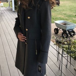 Vince Camuto Double Breasted Military Wool Coat